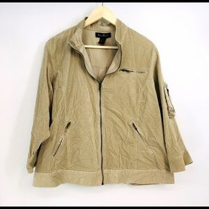 Ashley Stewart Corduroy utility jacket